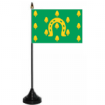 Rutland Desk / Table Flag with plastic stand and base